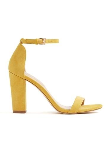 Aldo Kalın Topuklu Sandalet Sarı